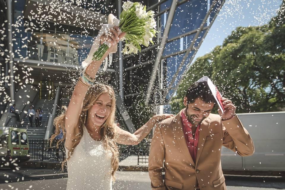 ¿Cuál es el guion para un casamiento por civil?