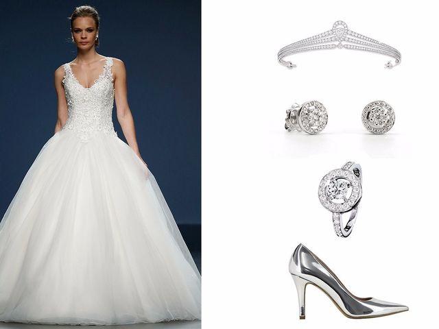 La novia en blanco y plata