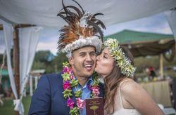 Natalia y Marcelo: un casamiento Rapanui en la Isla de Pascua