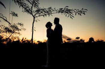 Amanda y Luciano: glamour en un casamiento rústico
