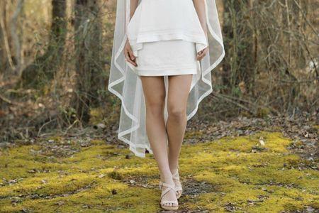 20 vestidos de novia cortos: modelos cómodos y con estilo