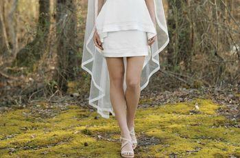 20 vestidos de novia cortos: outfits cómodos y estilosos