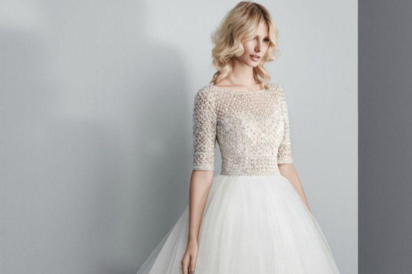 d9e6d1eea 15 hermosos vestidos de novia 2018 con manga larga