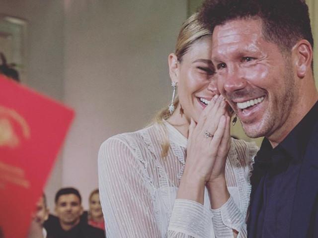 """El """"Cholo"""" Simeone y Carla Pereyra se casan en secreto con una ceremonia íntima"""