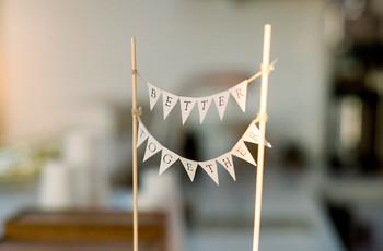 Paso a paso: banderines DIY para decorar su torta de casamiento