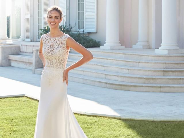 Vestidos de novia con escote barco: una opción muy elegante para tu look