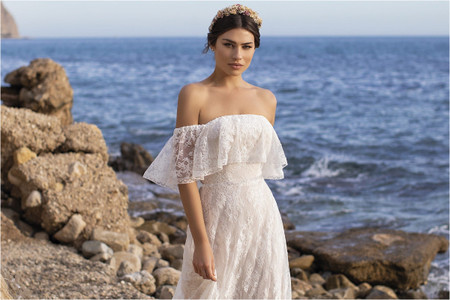 Vestidos de novia boho: 50 modelos para un estilo relajado y romántico