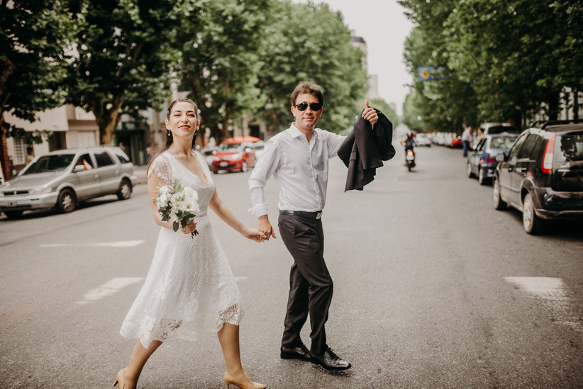 Vestido de novia corto casamiento civil