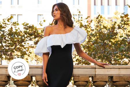 Blanco y negro (y un toque de rojo): 20 vestidos de fiesta que enamorarían a Cruella de Vil