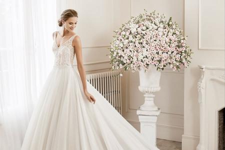 35 vestidos de novia corte princesa, elegancia y glamour para tu look