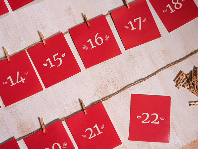 Calendario romántico DIY para recibir Navidad con mucho amor