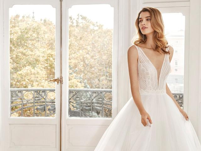 Vestidos de novia Aire Barcelona 2020: 50 opciones muy románticas