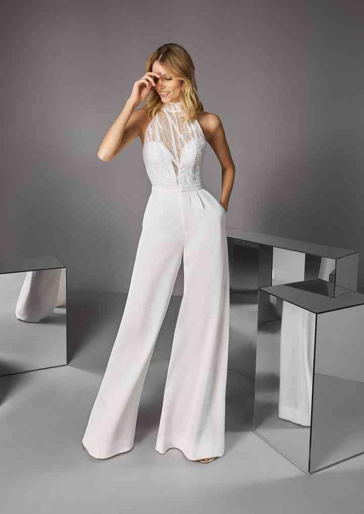 Pantalones Para Novias 35 Modelos Para Un Look Original
