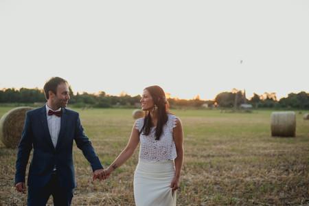 Vestidos de novia de dos piezas: ¡animate a un look moderno y relajado!