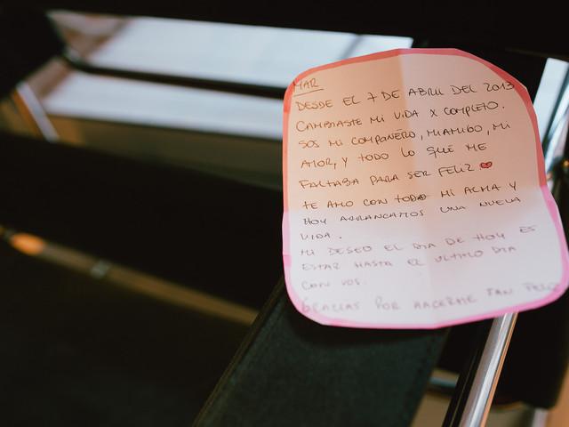 """Sorprendé a tu pareja con una carta romántica momentos antes del """"sí"""""""