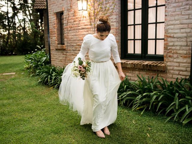 Vestidos de novia con mangas tres cuartos: 25 modelos únicos