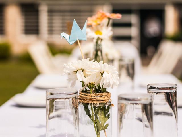 6 tips para ahorrar en los centros de mesa del casamiento
