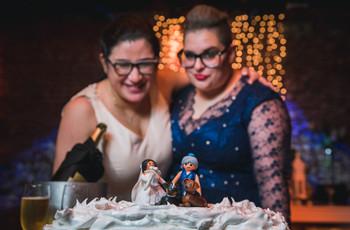 Cake topper LGTBIQ+ para casamientos: 10 ideas