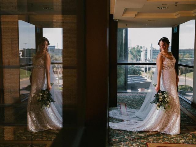 30 vestidos de novia de corte recto: la delicadeza de las líneas sencillas