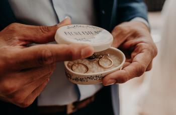 20 porta alianzas para su casamiento: inspiración para el detalle más romántico