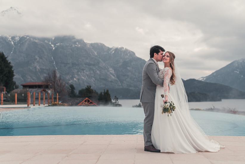 novios Bariloche casamiento invierno