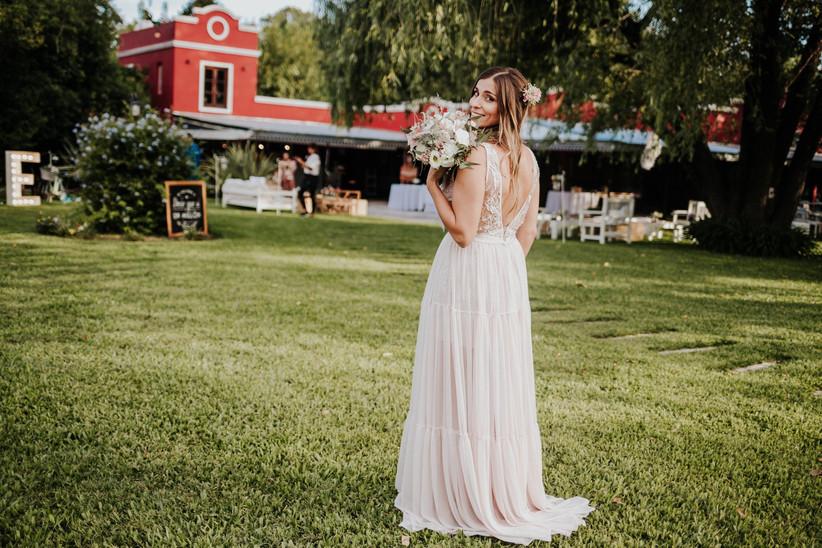 Vestido de novia aire libre