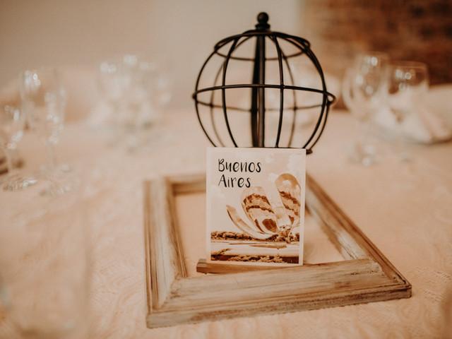 5 formas de usar nombres personalizados para las mesas del casamiento