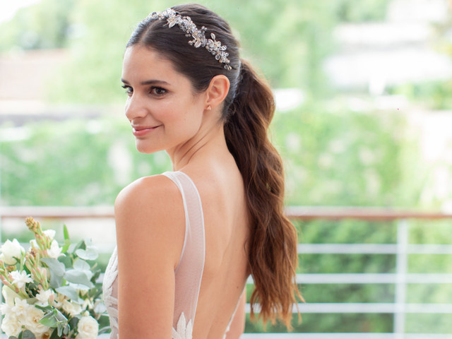 Peinado de novia con cola alta: 5 consejos para un look elegante
