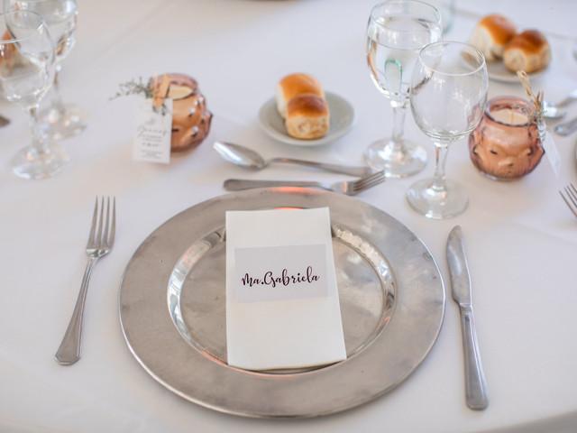 Marcasitios: un detalle personalizado que ayuda en la organización de las mesas del casamiento