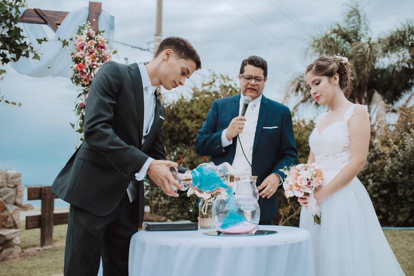 ceremonia arena casamiento aire libre