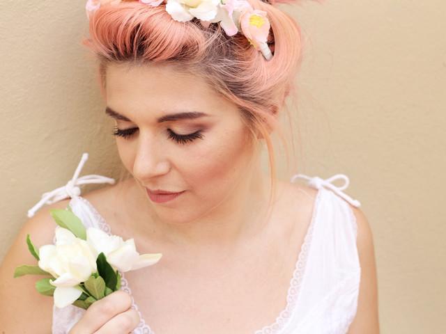 Novias con pelo color fantasía, ¿te animás con esta tendencia?