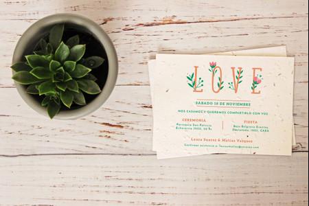 Tarjetas de casamiento ecológicas: 6 ideas para invitaciones sostenibles
