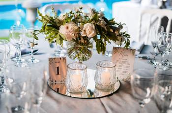 6 elementos que pueden usar para armar los centros de mesa del casamiento