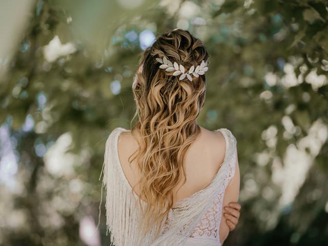 Tocados de novia sencillos: 40 ideas para enamorarte