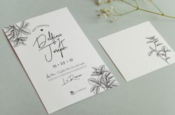 Tarjetas de casamiento minimalistas: simplicidad y elegancia