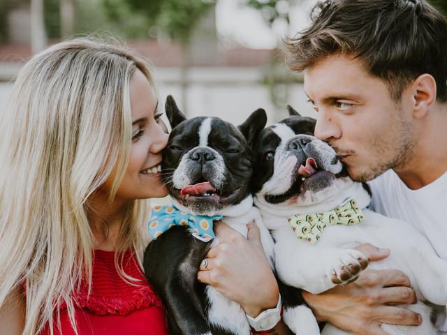 7 consejos muy prácticos para incluir a su perro en la sesión preboda