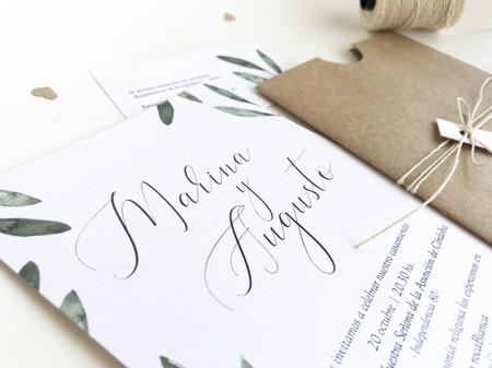 Tarjetas de casamiento con diseño ecológico: una tendencia inspirada en la naturaleza