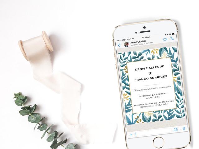 Invitaciones de casamiento virtuales: 7 consejos para una propuesta innovadora