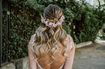 50 peinados semirecogidos para novias: el equilibrio perfecto