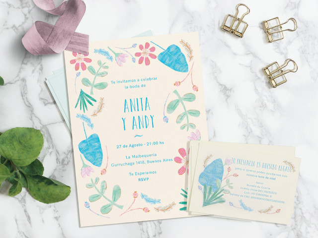 8 dudas frecuentes sobre las tarjetas de casamiento