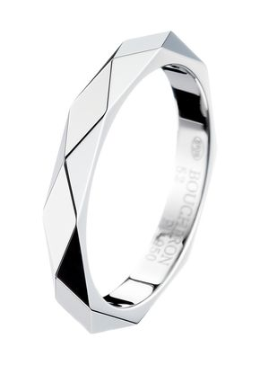 FACETTE PLATINUM WEDDING BAND 01, Boucheron