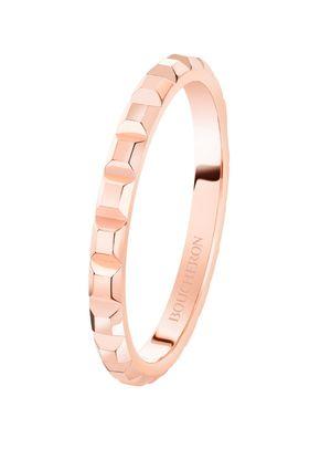POINTE DE DIAMANT PINK GOLD MINI WEDDING BAND RING, Boucheron