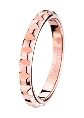 POINTE DE DIAMANT PINK GOLD WEDDING BAND RING, Boucheron
