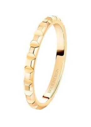 POINTE DE DIAMANT YELLOW GOLD MINI WEDDING BAND RING, Boucheron