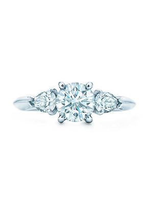 round brilliant with pear shaped side stones, Tiffany & Co.