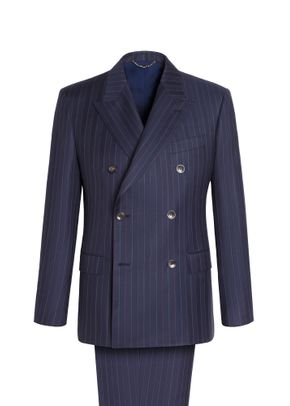 PINSTRIPED DOUBLE BREASTED CARLYLE SUIT , Brioni