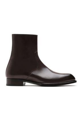 Brown Zip Boot, Brioni