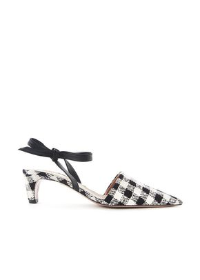 GINGHAM BOW MULES, 244