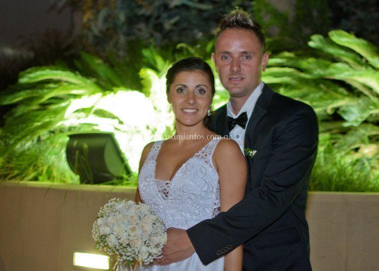 Pre boda exterior noche