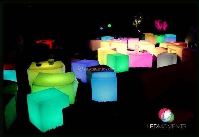 Alquiler de muebles LED